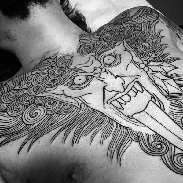 Gentleman With Krampus Tattoo