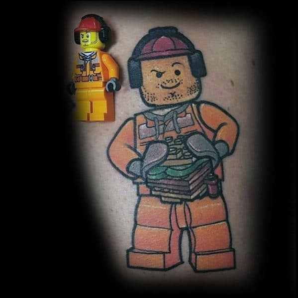 Gentleman With Lego Tattoo
