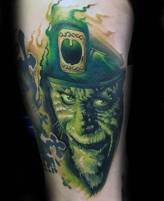 Gentleman With Leprechaun Tattoo