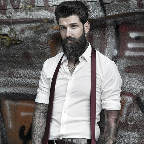 Gentleman With Manly Beard Design Style