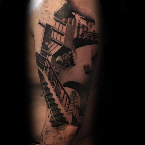 Gentleman With Mc Escher Tattoo