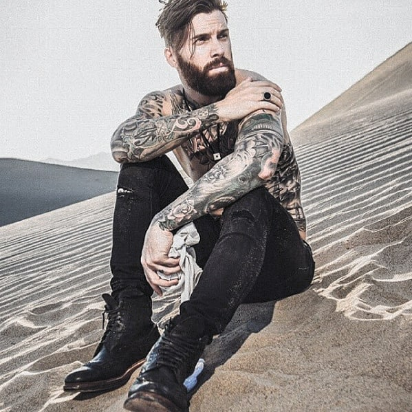 Gentleman With Medium Beard Design Style
