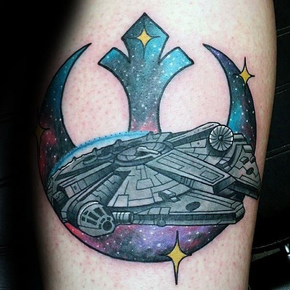 Gentleman With Millennium Falcon Tattoo