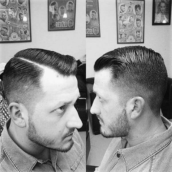 Gentleman With Modern Comb Over Haircut