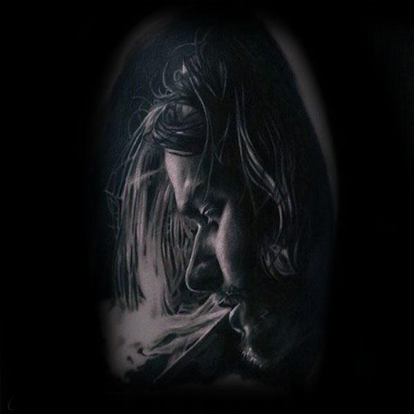 Gentleman With Nirvana Tattoo