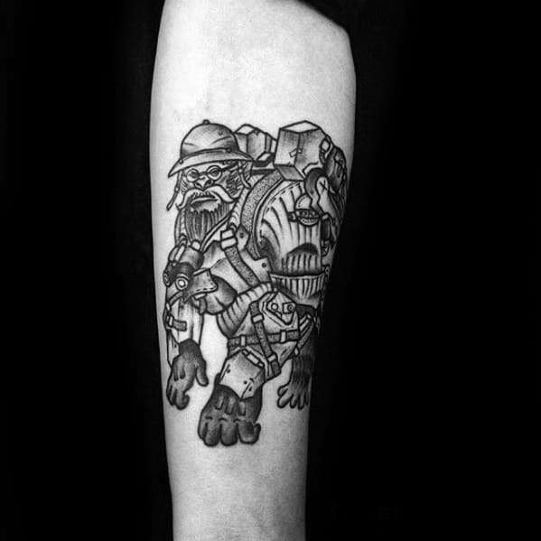 Gentleman With Overwatch Tattoo