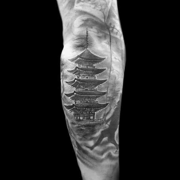 Gentleman With Pagoda Tattoo