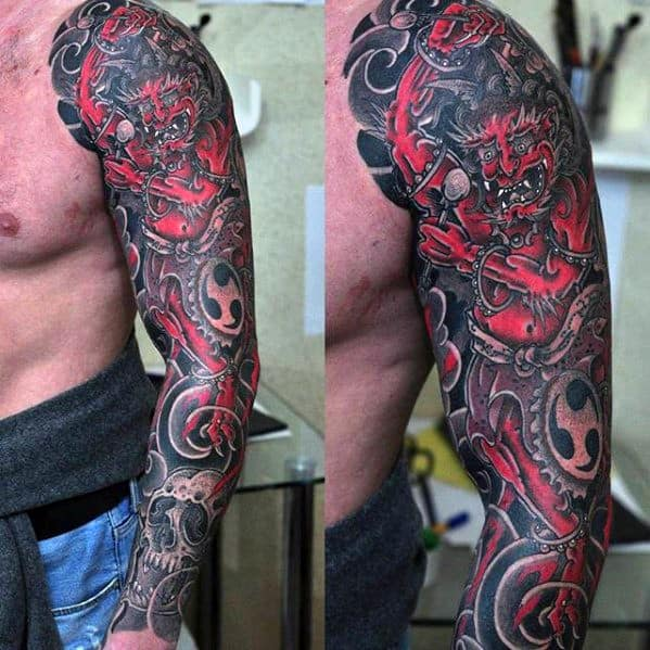Gentleman With Raijin Tattoo