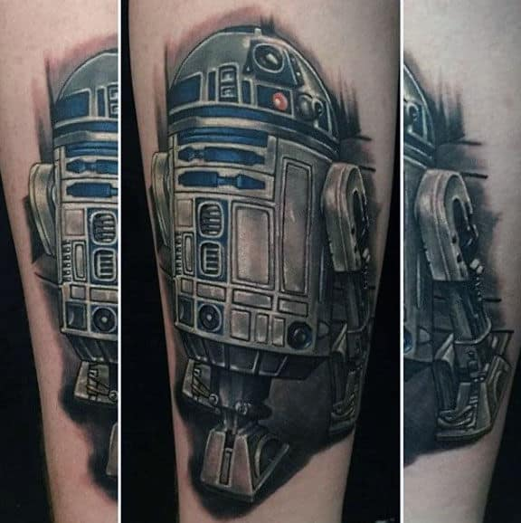Gentleman With Rd2d Forearm Tattoo