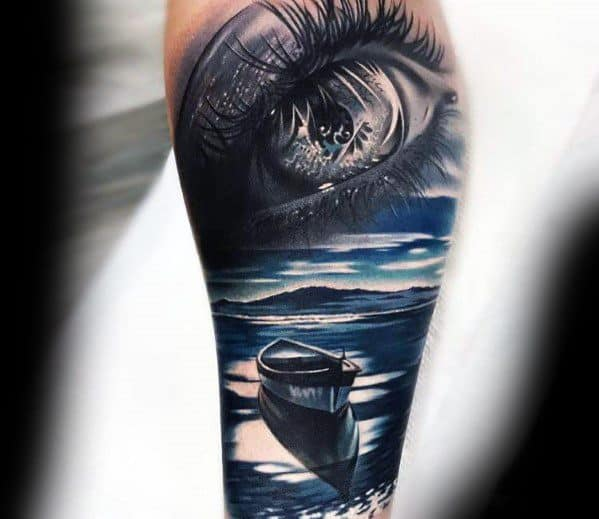 50 Reflection Tattoo Ideas For Men Mirrored Designs