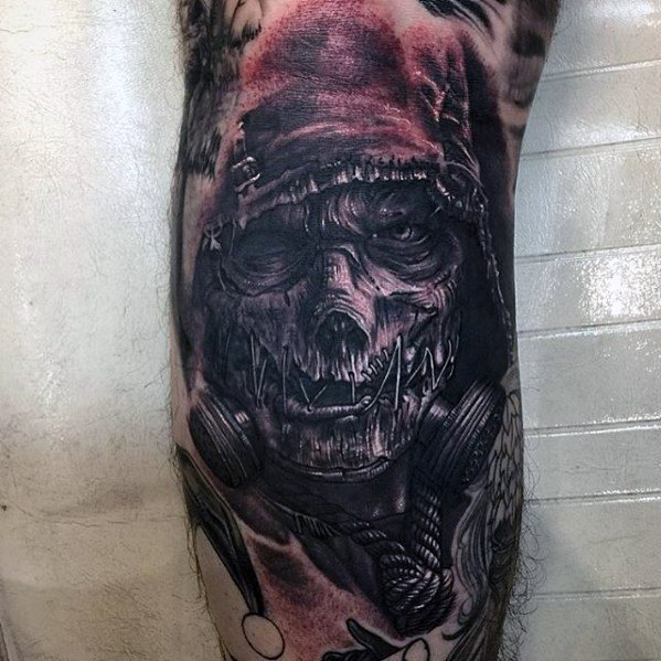 Gentleman With Scarecrow Tattoo