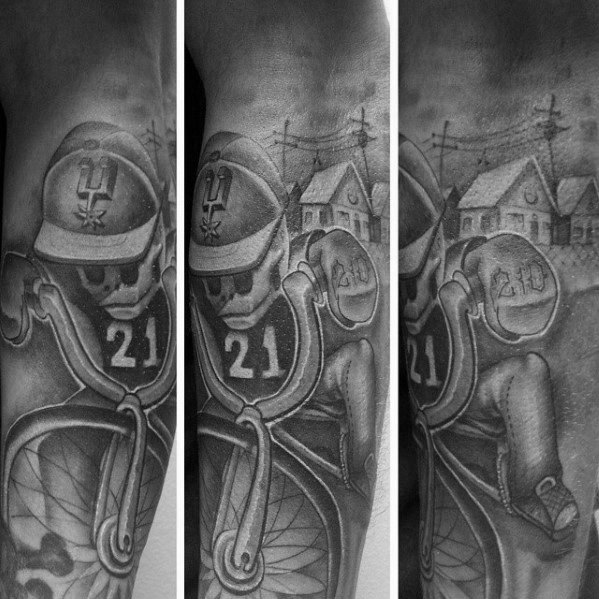 Gentleman With Shaded San Antonio Spurs Tattoo