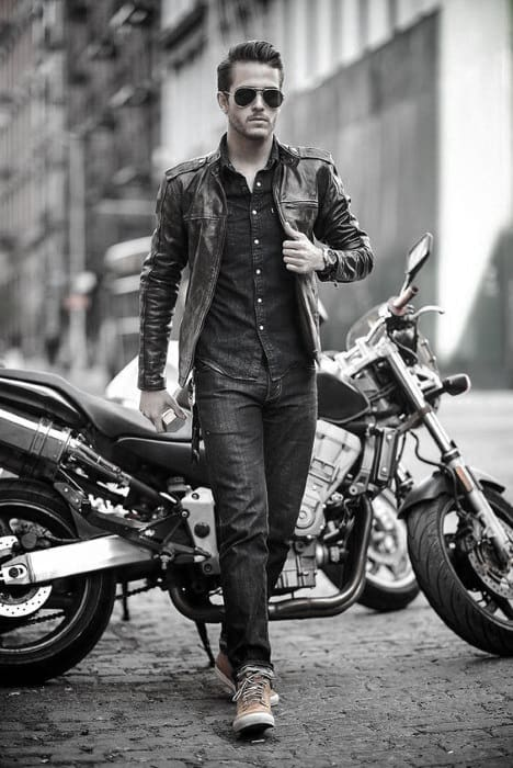 Gentleman With Sharp Leather Jacket How To Wear A Leather Jacket Outfits