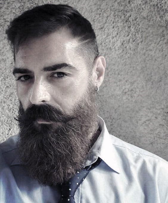Gentleman With Short Hair And Long Beard Style