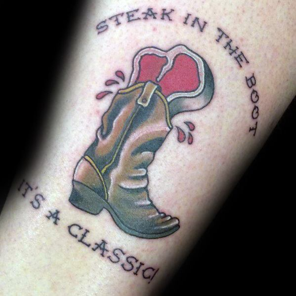Gentleman With Steak Tattoo