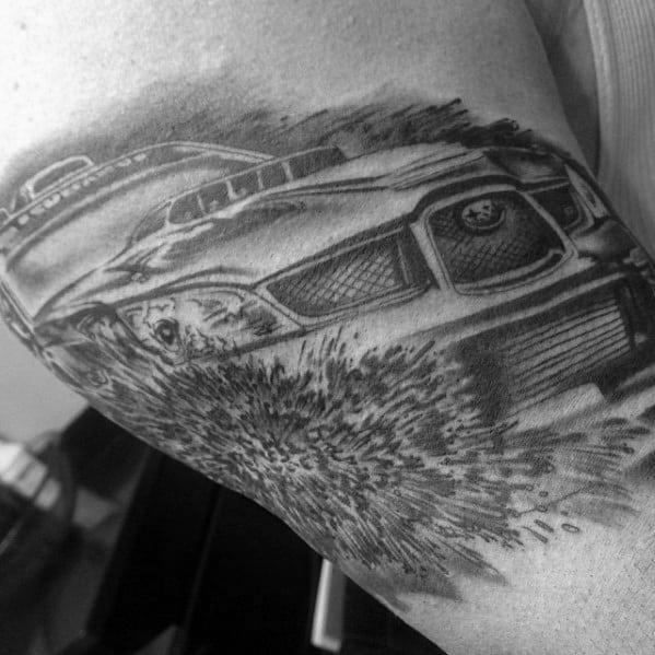 Gentleman With Subaru Tattoo