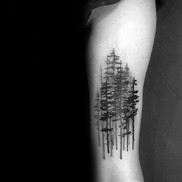 Gentleman With Tree Leg Tattoo