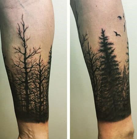 75 tree sleeve tattoo designs for men ink ideas with for Forearm tattoo sleeves