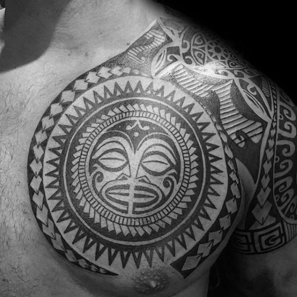 Gentleman With Tribal Tattoos On Shoulder