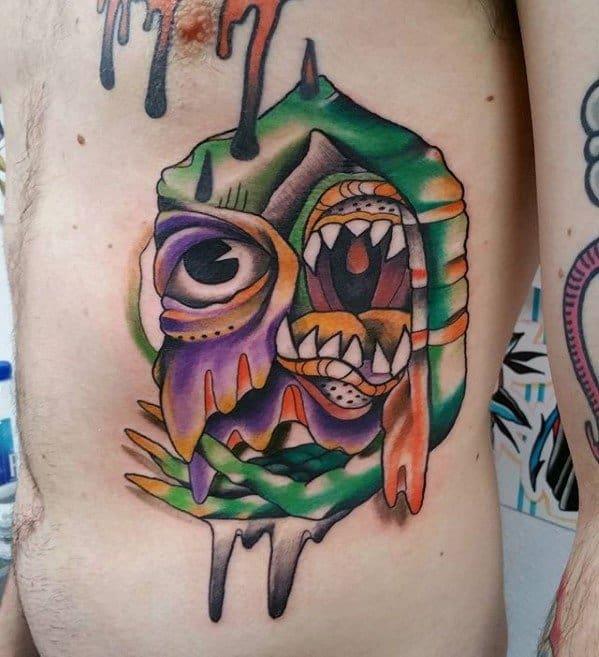 Gentleman With Trippy Tattoo