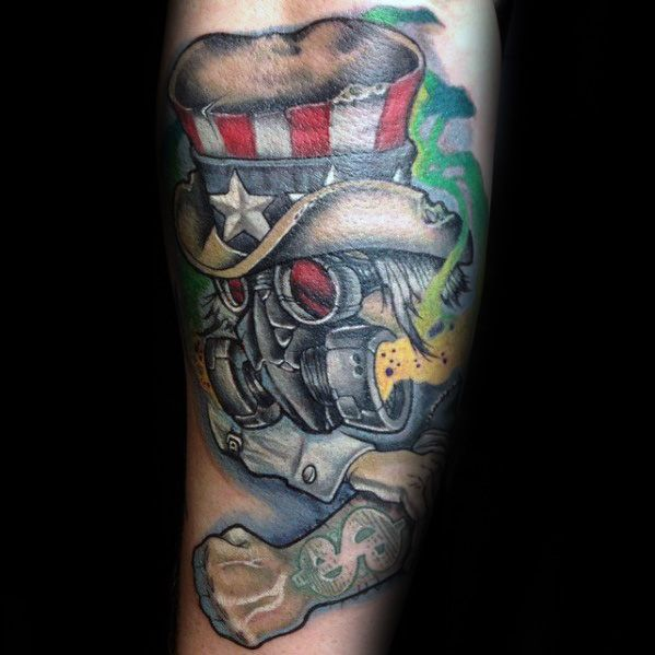 Gentleman With Uncle Sam Tattoo