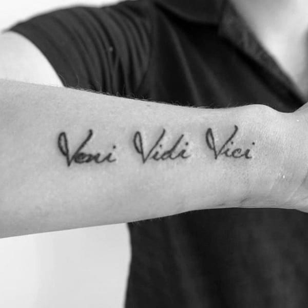 60 Veni Vidi Vici Tattoo Designs For Men Julius Caesar Ideas