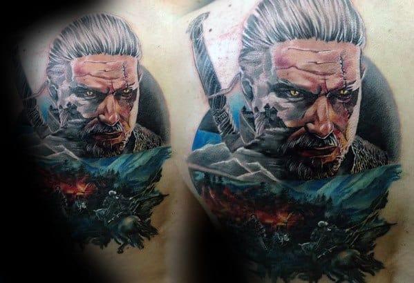 Gentleman With Witcher Tattoo