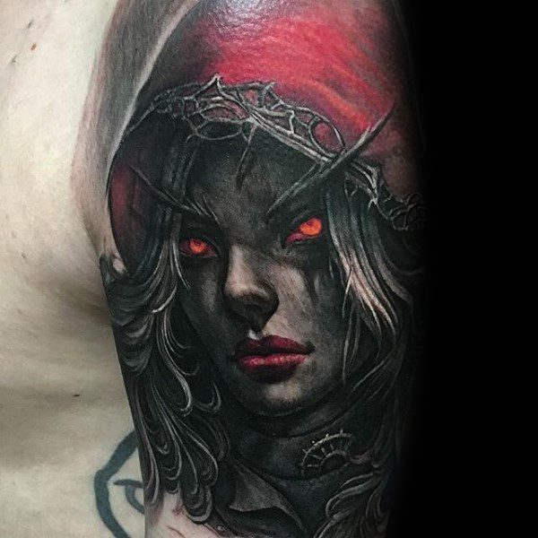 70 world of warcraft tattoo designs for men video game ink ideas. Black Bedroom Furniture Sets. Home Design Ideas