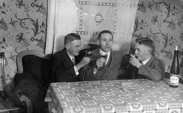 Gentlemen With 1930s Old School Haircuts