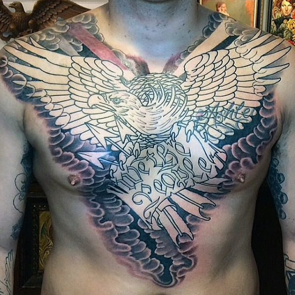 Gentlemen With Full Chests Bald Eagle Tattoo