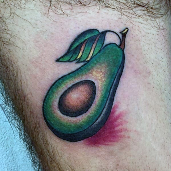 Gentlemens Avocado Tattoo Ideas