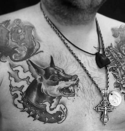 Gentlemens Chest Doberman Tattoo Ideas