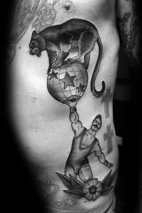 Gentlemens Circus Tattoo Ideas On Rib Cage Side Of Body
