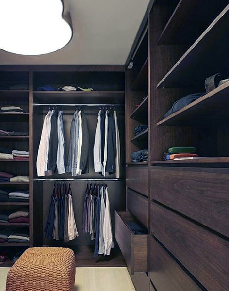 Gentlemens Fine Wood Closet Inspiration
