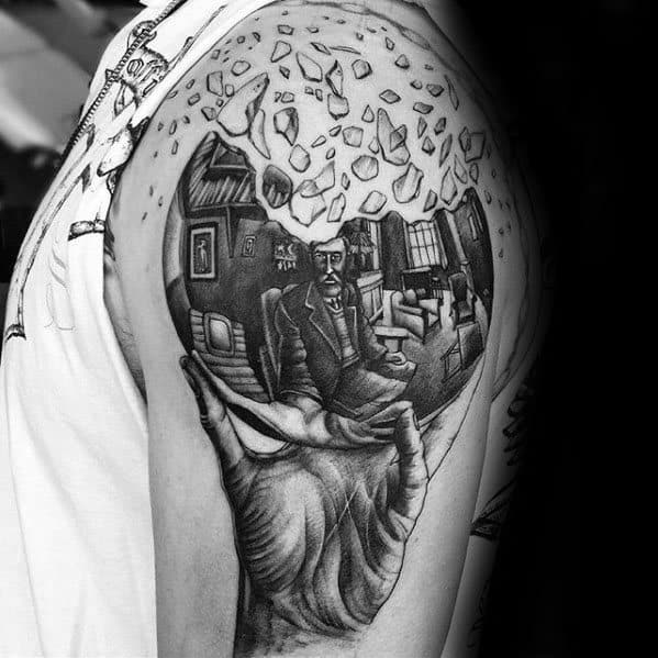 Gentlemens Mc Escher Tattoo Ideas On Upper Arm