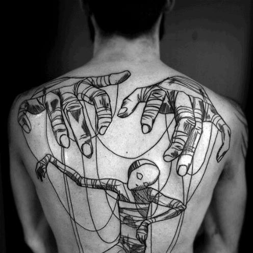 Gentlemens Puppet Tattoo Ideas