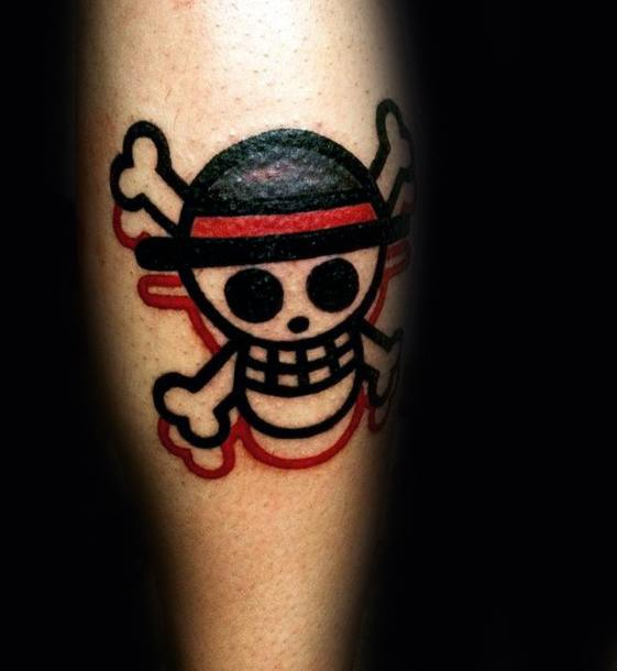 Gentlemens Small Leg Calf One Piece Tattoo Ideas