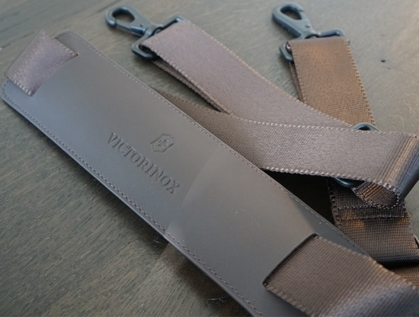 Genuine Napa Brown Leather Victorinox Architecture Urban Bodmer 14 Shoulder Strap
