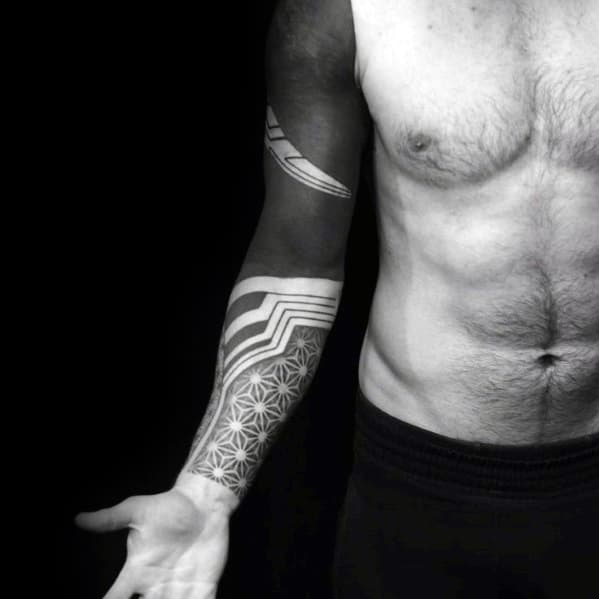 70 All Black Tattoos For Men