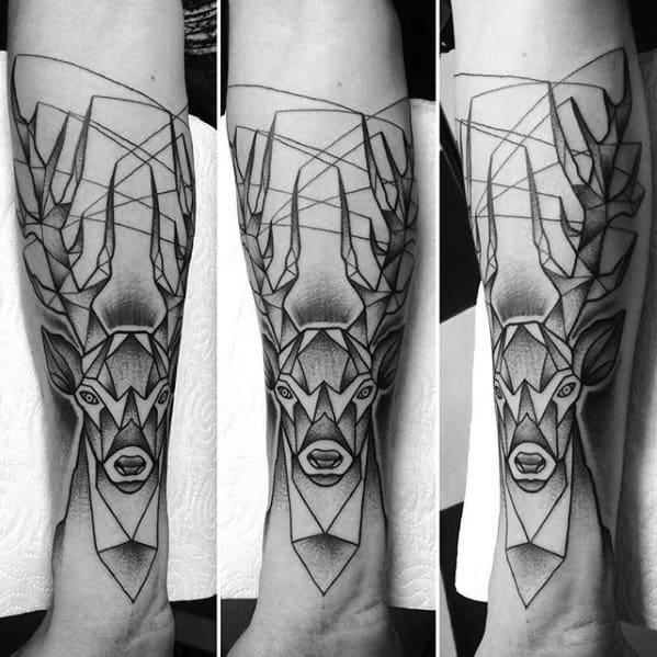 60 Geometric Animal Tattoo Designs For Men Cool Ink Ideas