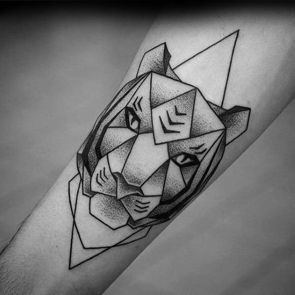 Geometric Animal Guys Tiger Tattoo Ideas
