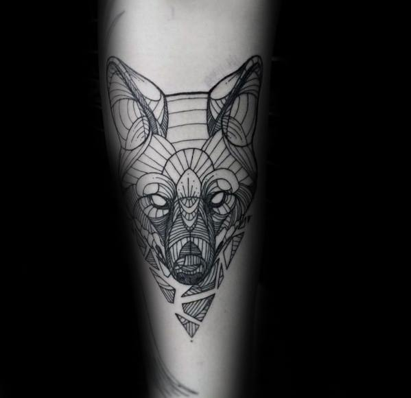 Geometric Animal Tattoo Ideas For Males