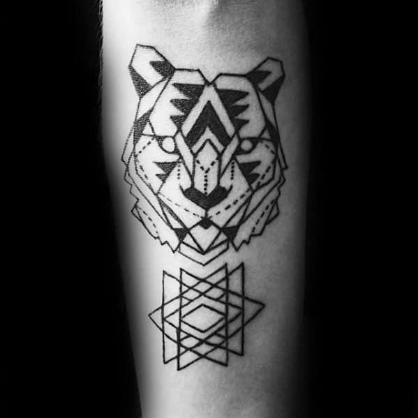 Geometric Animal Tattoo On Men