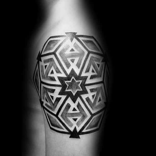 Geometric Arm Mens Tattoo Ideas
