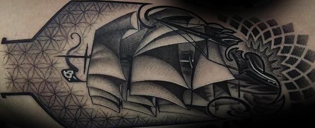Geometric Arm Tattoo Designs For Men