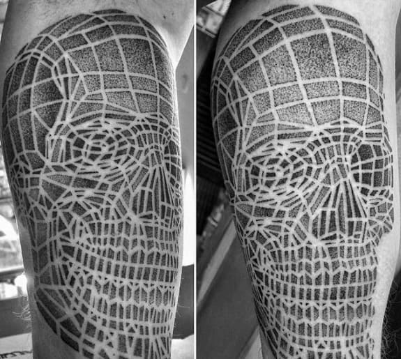 Geometric Awesome Badass Skull Tattoos For Men