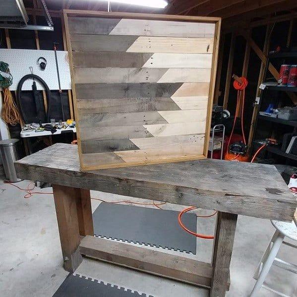Geometric Bachelor Pad Wood Wall Art Design Ideas