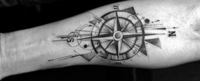 40 Geometric Compass Tattoo Designs For Men – Cool Geometry Ideas