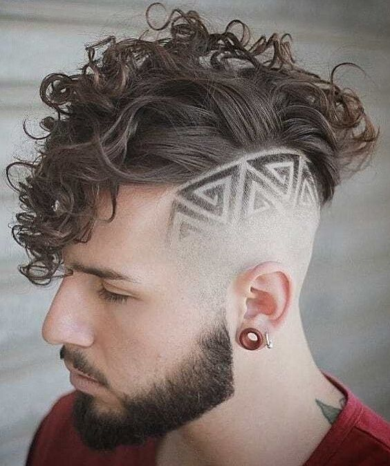 Geometric Design Fade Haircut