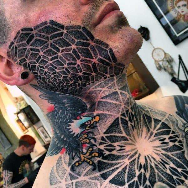 a465b070369b8 90 Face Tattoos For Men - Masculine Design Ideas